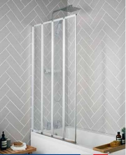 Bathcenter  4 Fold Bath Screens - 1400mm x 800mm